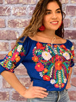 Sleeve Off Shoulder Mexican Blouse