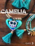 Day of The Dead Necklace Set Ceramic Heart