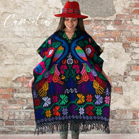 Mexican Poncho Cross Stitch Black