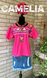 Boho Peasant Mexican Crop-Top