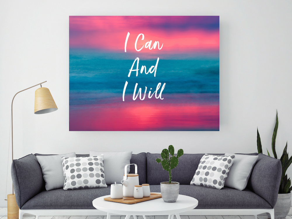 i can and i will inspirational wall art