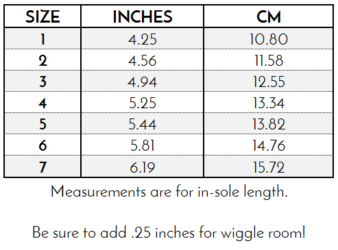Children Shoes Size Chart By Age