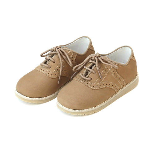 L'Amour Boys Noah Nubuck Leather Oxford Shoe - Lamourshoes.com