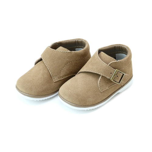 Angel Baby Boy's Finch Khaki Suede Boot With Buckle Accent (Baby) - www.lamourshoes.com