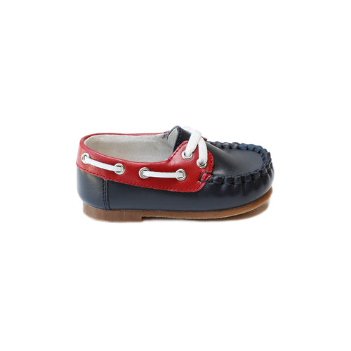 Hudson Boy's Leather Boat Shoe (Baby) - Angel Baby Shoes / Lamourshoes.com