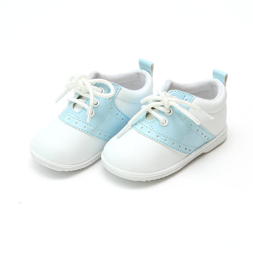 Austin Boy's Patent Sky Blue Saddle Oxford Shoe (Baby) - Angel Baby Shoes
