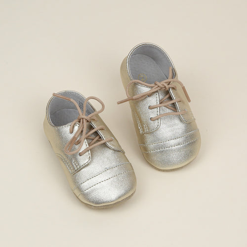 Bailey Leather Derby Crib Shoe (Infant)