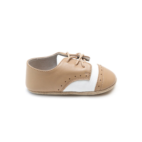 Bentley Leather Saddle Crib Shoe (Infant)