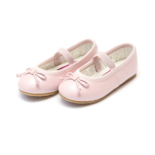 Prima Pink Leather Ballet Flat - L'Amour Flats