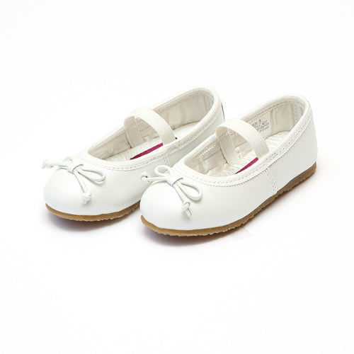 Prima White Leather Ballet Flat - L'Amour Flats