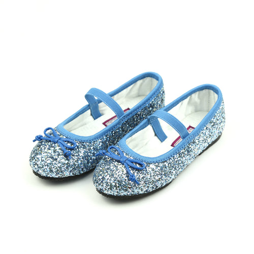 Dorothy Blue Sparkle Chunky Glitter Flat - L'Amour