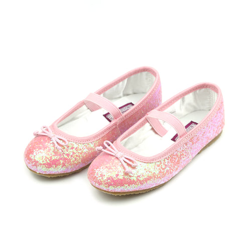 Dorothy Pink Sparkle Chunky Glitter Flat - L'Amour Flats