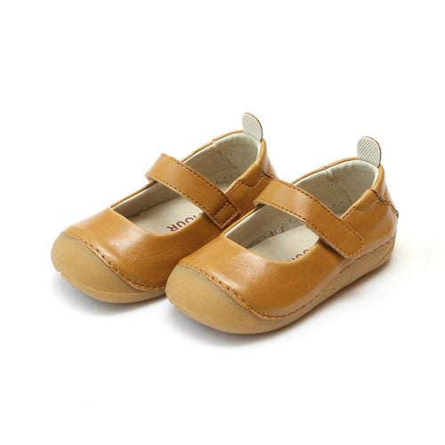 L'Amour Toddler Girls Emily Mustard Classic Sporty Mary Jane
