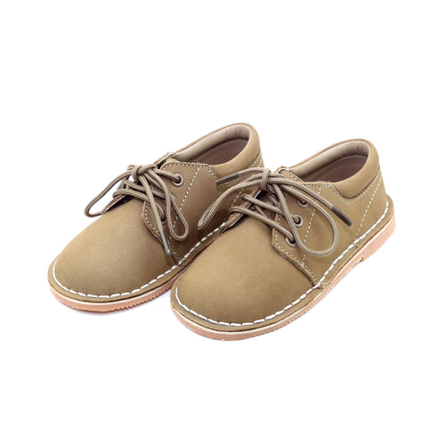 Tyler Nubuck Khaki Stitch Down Leather Lace Up Shoe - L'Amour Shoes