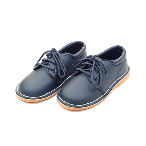 Tyler Navy Stitch Down Leather Lace Up Shoe - L'Amour Shoes