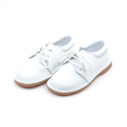 Tyler White Stitch Down Leather Lace Up Shoe - L'Amour Shoes