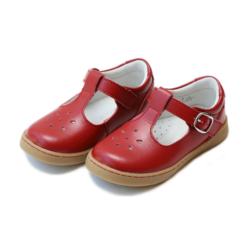 Chelsea Red T-Strap Mary Jane - L'Amour Shoes