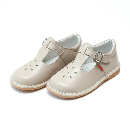 Joy Classic Almond Leather Stitch Down T-Strap Mary Jane - L'Amour Mary Janes