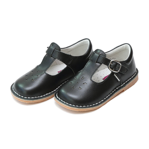 Joy Classic Black Leather Stitch Down T-Strap Mary Jane - L'Amour Mary Janes
