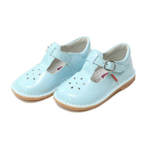 Joy Classic Patent Sky Blue T-Strap Mary Jane - L'Amour Shoes