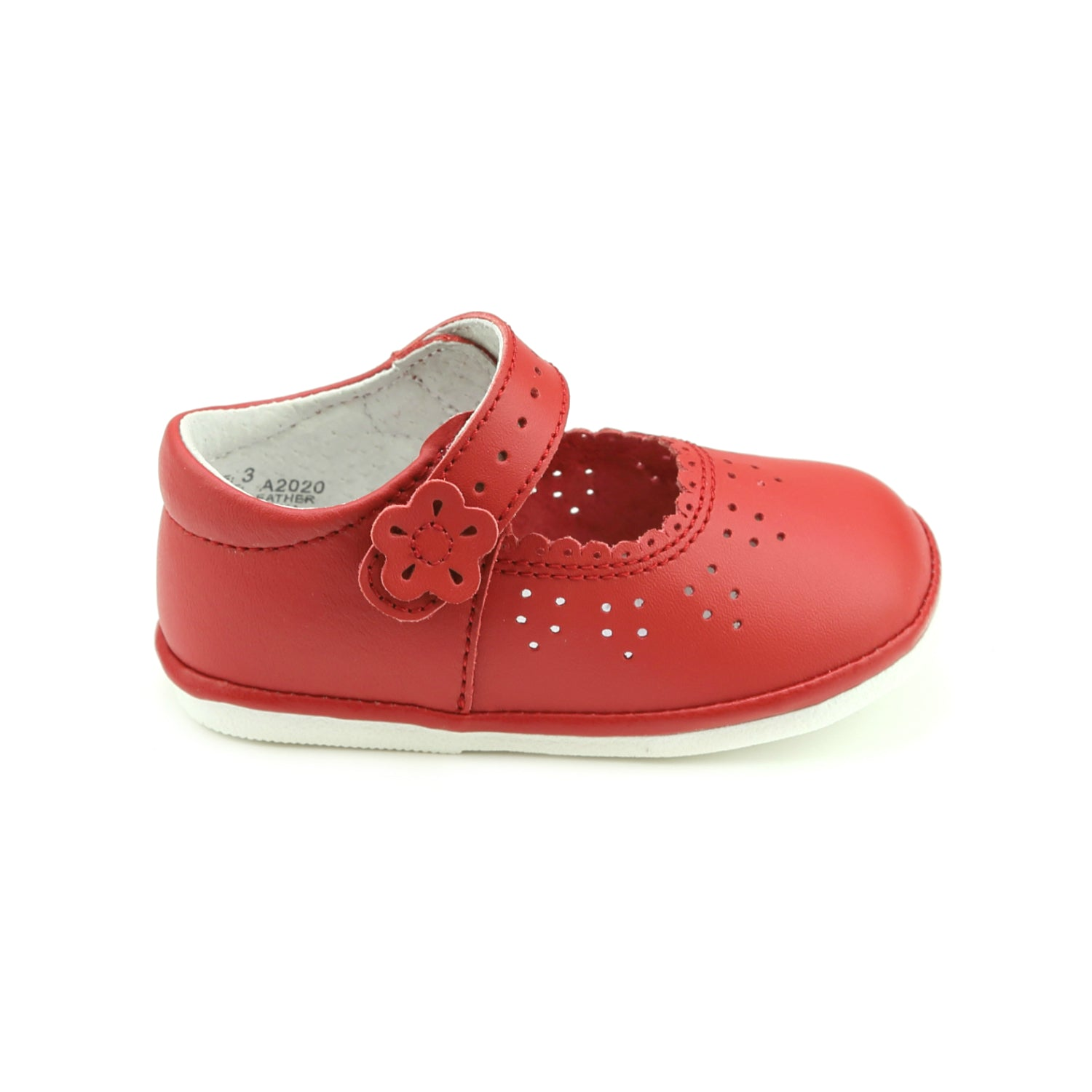 Girls Mary Jane Leather baby blue shoe with side bow