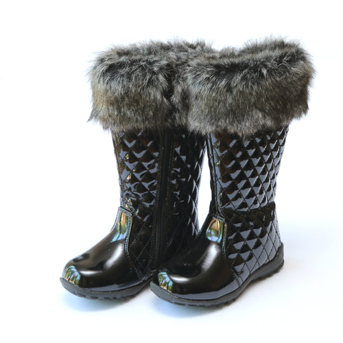 Krystal Faux Fur Cuffed Tall Boot - L'Amour Boots