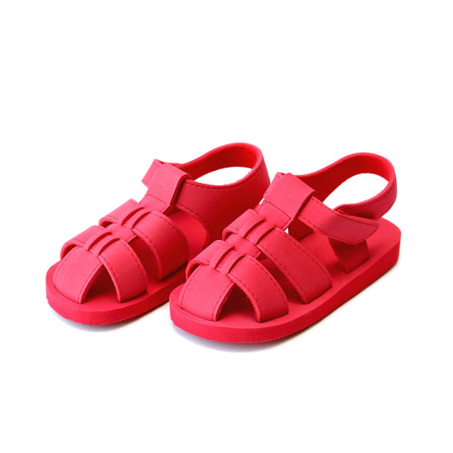 Angel Baby Boys Billy Red EVA Foam Fisherman Sandal (Baby) - Lamourshoes.com