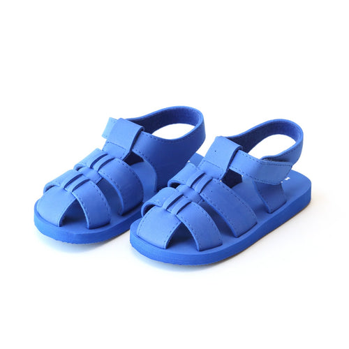 Angel Baby Boys Billy Royal Blue EVA Foam Fisherman Sandal (Baby) - Lamourshoes.com