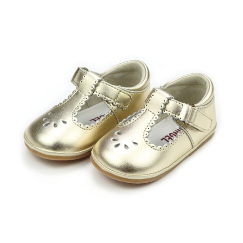 Dottie Scalloped T-Strap Mary Jane (Baby) - Angel Baby Shoes