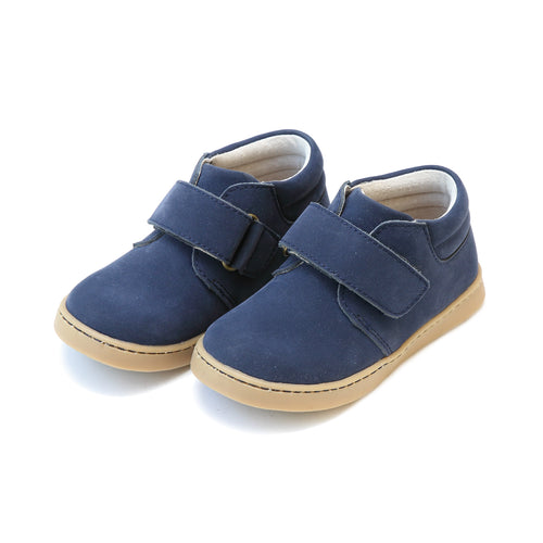 Parker Sporty Nubuck Navy Velcro Boot - L'Amour Shoes