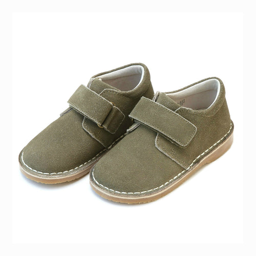 Oliver Boys Olive Suede Stitch Down Velcro Boot - L'Amour Shoes