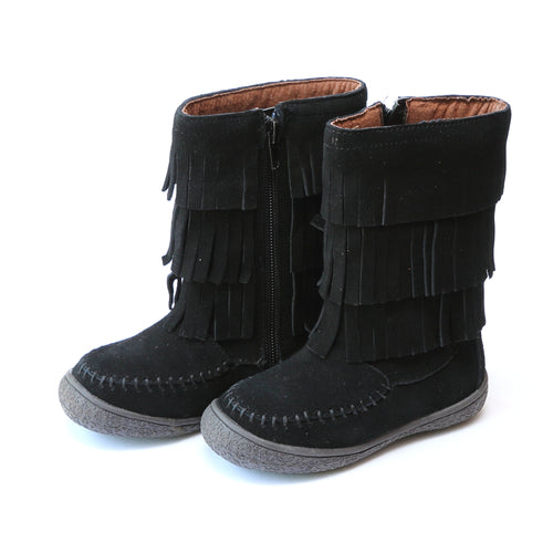 Winona 3-Tiered Fringe Leather Boot