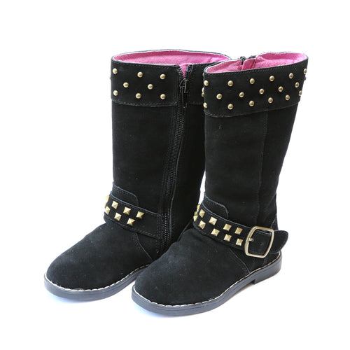 Carly Tall Studded Suede Boot - L'Amour Boots