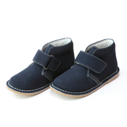 Emmett Nubuck Navy Leather Velcro Desert Boot - L'Amour Boots