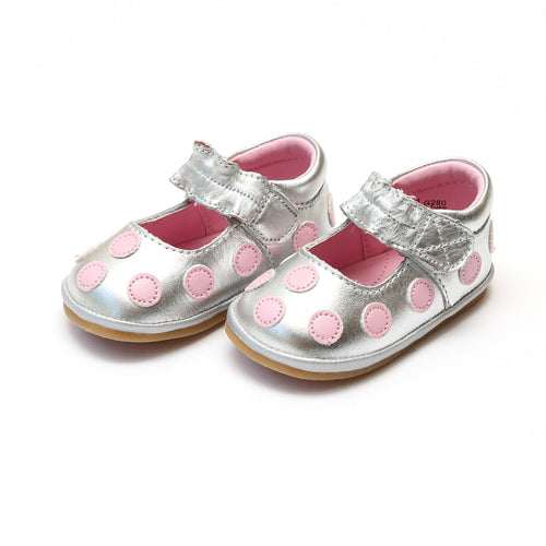 Romy Polka Dot Leather Mary Jane (Baby) - Angel Baby Mary Janes