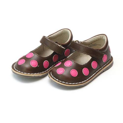 Katie Polka Dot Brown Mary Jane - L'Amour Mary Jane