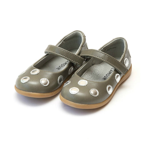 Mara Polka Dot Gray Mary Jane - L'Amour Mary Janes