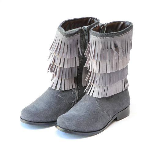 Sierra Leather Fringe Tall Boot - L'Amour Boots