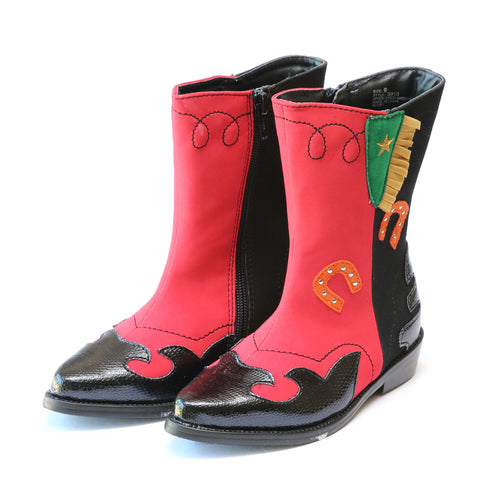 Arizona Cowboy Red Leather Western Boot - L'Amour Shoes