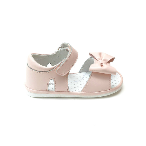 Angel Baby Girls Bessie Pink Bow Sandal - lamourshoes.com
