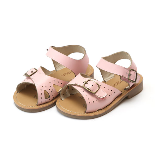 Pippi Pink Leather Buckle Sandal - L'Amour Shoes