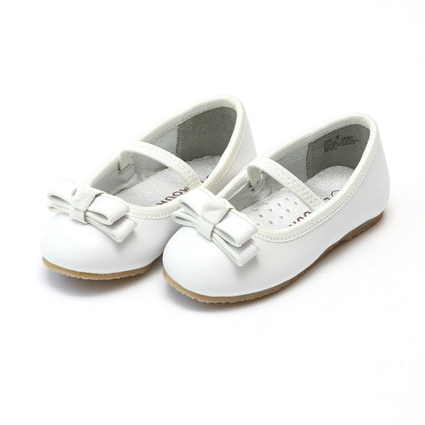 Kiki Princess Leather Flat with Button