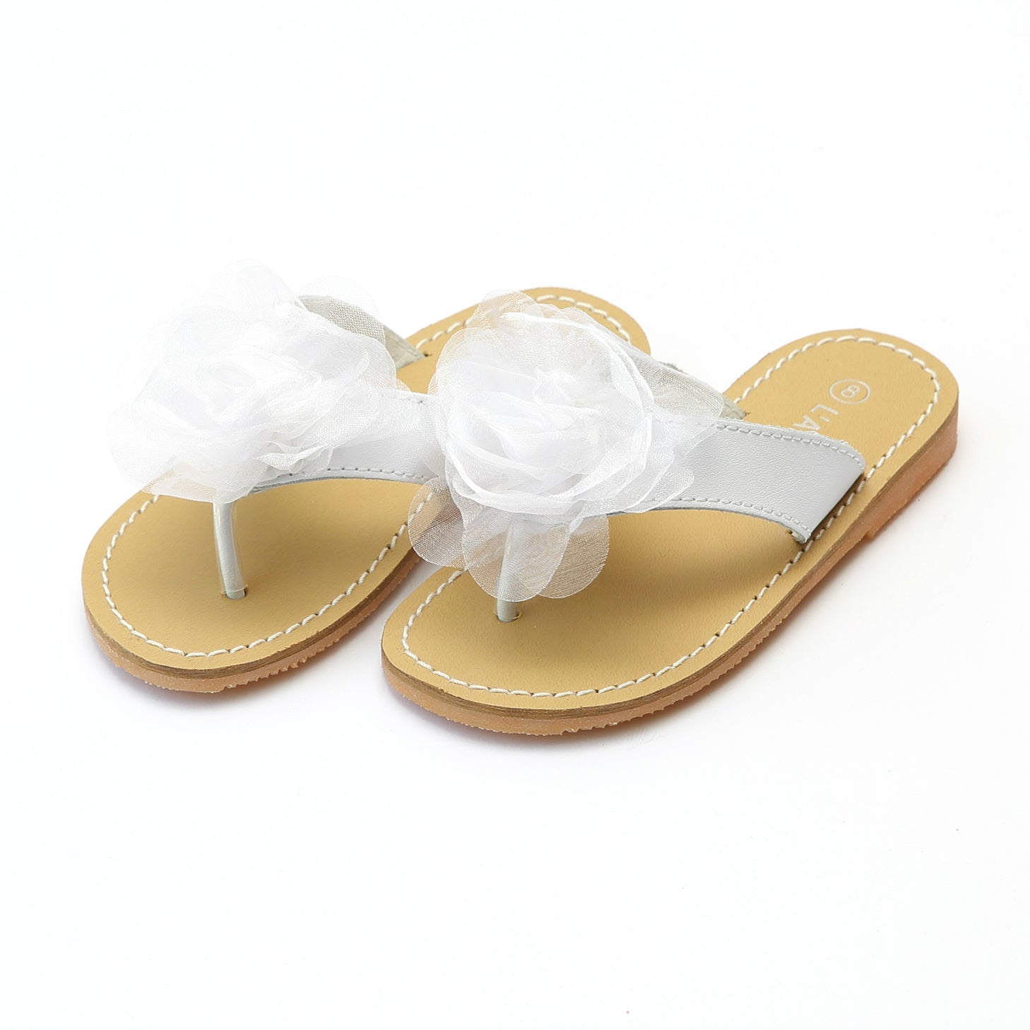 58d6f75f6 L Amour Girls Tiana Sequined Organza Rosette Special Occasion Sandal ...