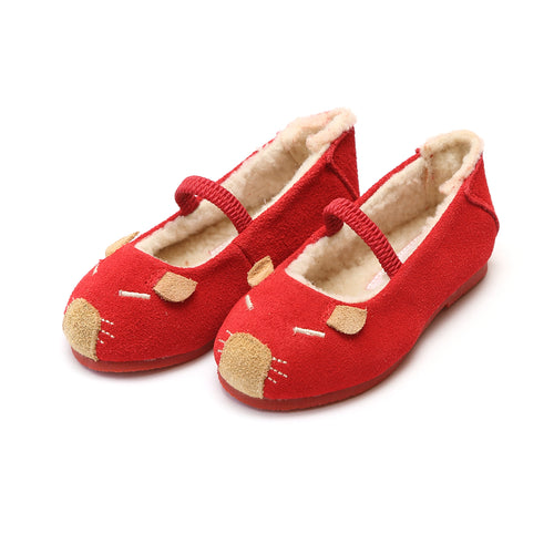 Mousie Red Leather Flat - L'Amour Flats