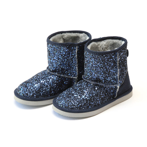 Glinda Girl's Navy Sparkly Glitter Boot - L'Amour Boots