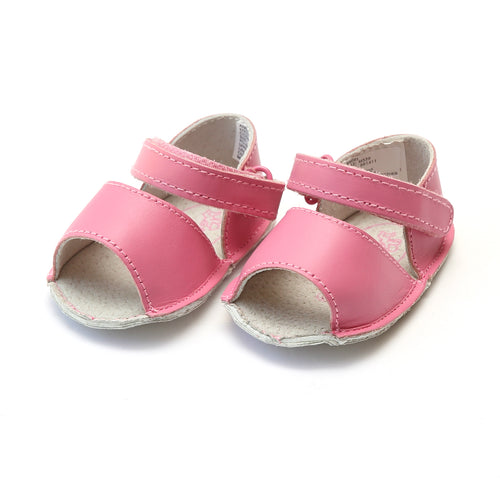 Carisa Leather Open Toe Crib Sandal (Infant) - Angel Baby Shoes