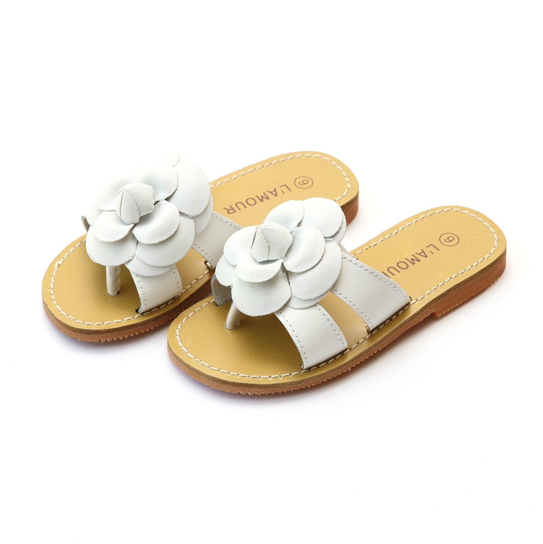 6c2096a158b8cb Florence Girls Double Strap Flower Thong Sandal – L Amour Shoes