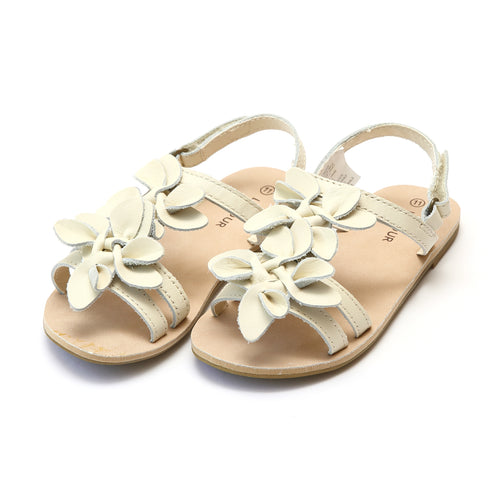 Georgia Girls Cream Blossom Open Toe Sandal - L'Amour Shoes