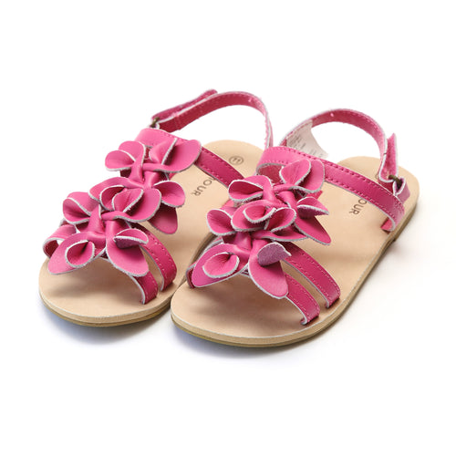 Georgia Girls Fuchsia Blossom Open Toe Sandal - L'Amour Shoes