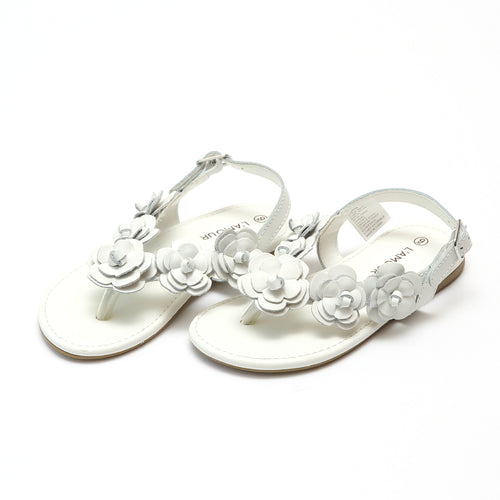 Evelyn Leather Flower Sandal